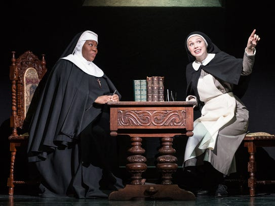 Melody Betts as the Mother Abbess and Charlotte Maltby