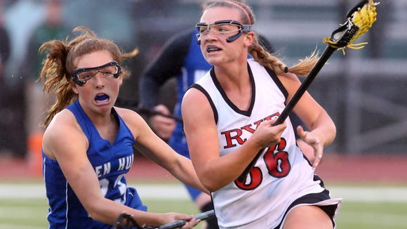 Rye defeated Hendrick Hudson 11-6 to win the Section 1 Class C girls lacrosse championship at Yorktown High School May 25, 2017.