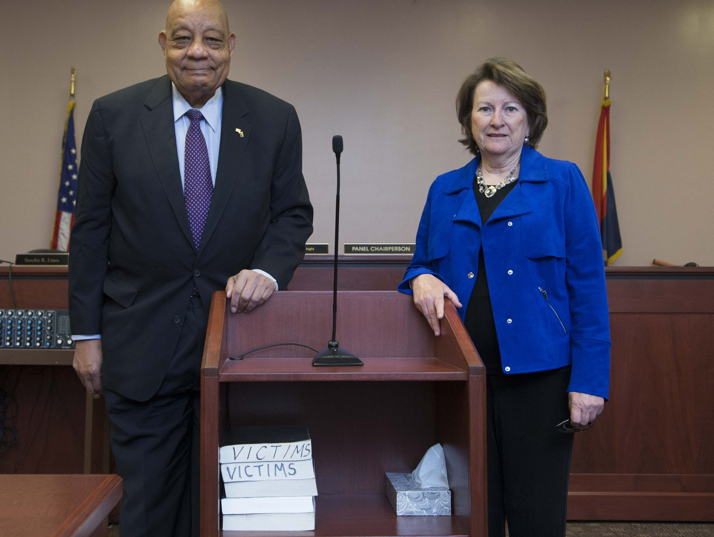 A portrait of C.T. Wright and Ellen Kirschbaum at the