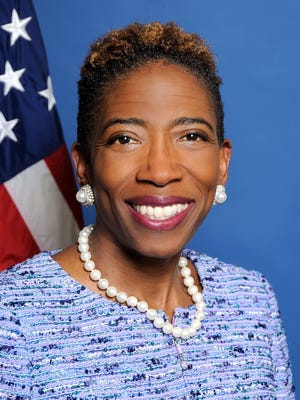Carla Harris -- chair of President Barack Obama's National Women's Business Council and vice chairman of global wealth management, managing director and senior client advisor at Morgan Stanley -- spoke at an Inforum lunch in downtown Detroit Wednesday.