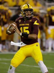 Arizona State quarterback Dillon Sterling-Cole throws a pass against Washington State on Saturday, Oct. 22, 2016 in Tempe.