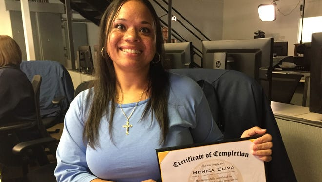 Monica Oliva, 37, who graduated from a computer design training program at Folsom Prison on Nov. 19, 2015.