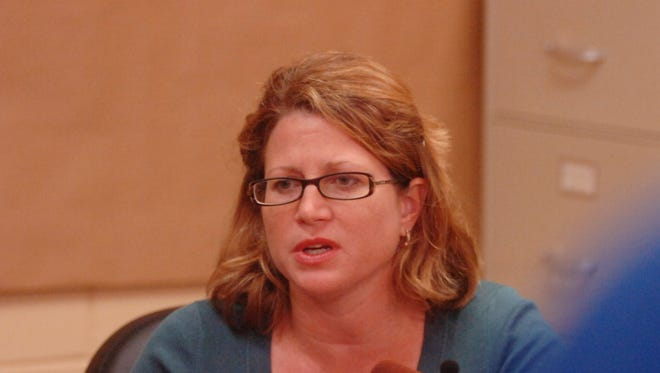 A file photo of Jennifer Soto speaking during a press conference in 2008.