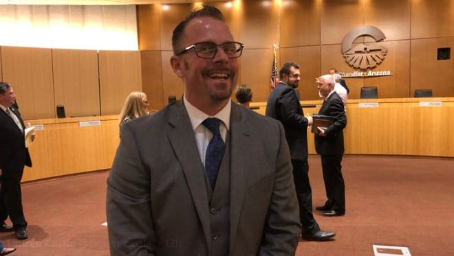 Chandler City Council voted to appoint Jeremy McClymonds to fill a vacant seat Thursday, June 28, 2018.