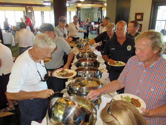 Captains and crews enjoyed the buffet luncheon and