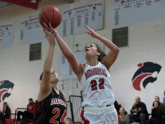 Jackson Memorial's Kristina Donza heads to the basket