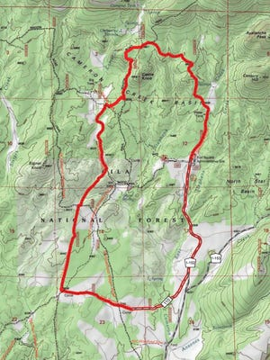 Map of proposed prescribed burn site in the Gila National Forest.