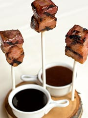 This is what bacon fondue looks like on Thursdays at Benny's Chop House.