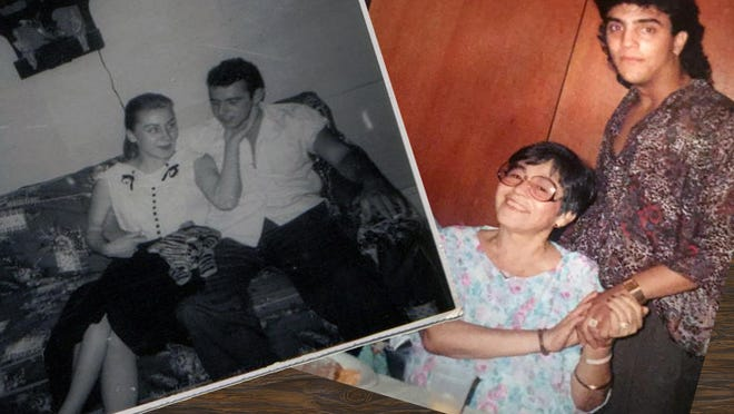From left: Ashley Fontones' maternal grandmother Catherine Ranieri and her late husband Emilio T. as young adults. Fontones' paternal grandmother Rosalia Centeno Gonzalez with Fontones' father Ralph before her death in 1990.