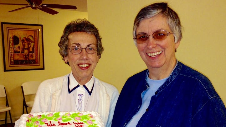 Sister Margaret Held (left), a nurse practitioner with