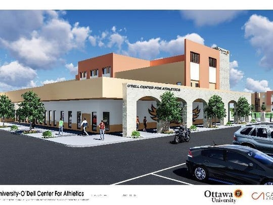 A rendering of Ottawa University's O'Dell Center for Athletics in Surprise.