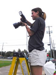 FSU photography student Julia Crabtree gets a higher