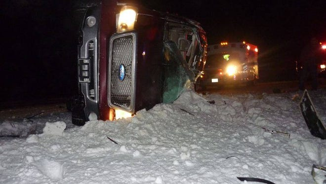 Brookings Troopers responded to a one vehicle crash about 4 miles north of the Dell Rapids exit on I-29 Friday night.