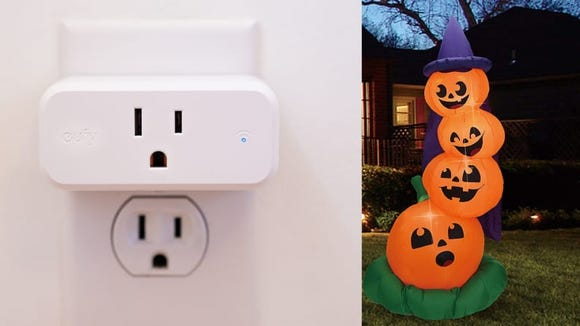 A smart plug can help you control your Halloween display from your phone or smart speaker.