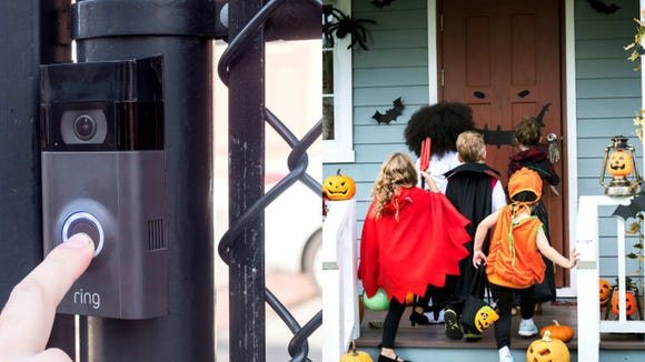 See how many trick-or-treaters are at your front door using the Ring Video Doorbell 2.