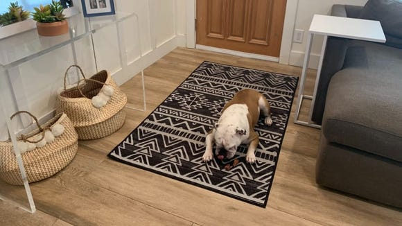 We stan a rug that can hold its own against pets and kids.