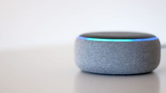 The Echo Dot (third-generation) is one of the smallest Amazon Echo smart speakers.