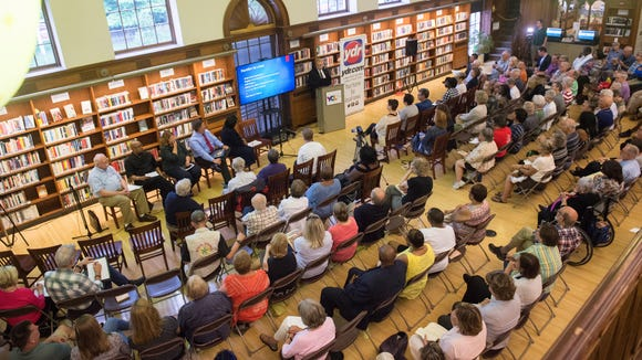 Panelists engage with audience members regarding the 50th anniversary of the race riots, the charrette and the aftermath in York at Martin Memorial Library, presented by the York Daily Record, Wednesday, May 30, 2018.