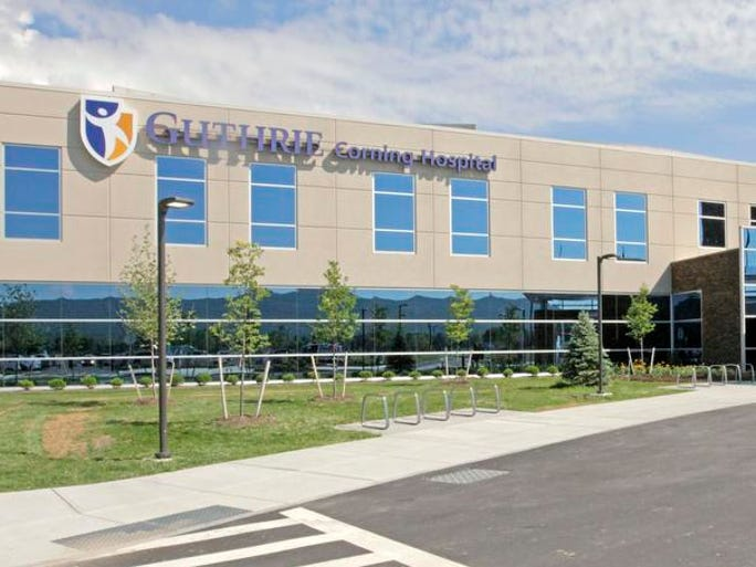 Guthrie Corning Hospital had a ribbon-cutting ceremony for its new $143 million facility Friday and gave tours to the media.