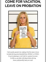 An advertisement from the American Beverage Institute pokes fun at Utah's new lower DUI legal limit.