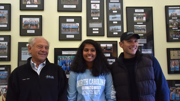 From left, Asheville Youth Rowing head coach Jack Gartner,