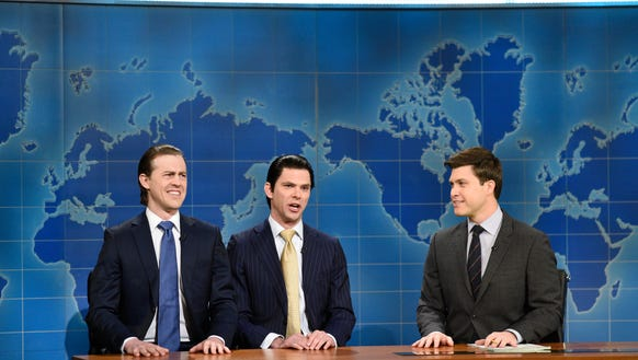 But if Mikey Day, center, takes on playing Scaramucci,