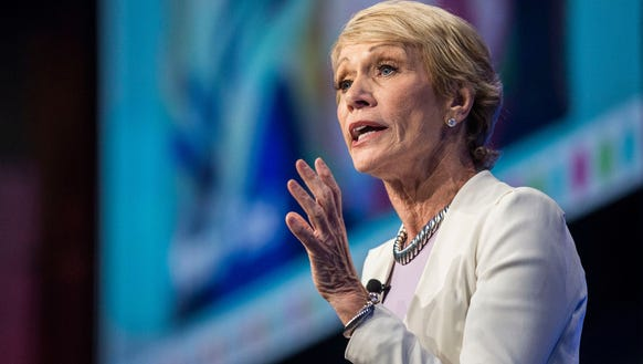 """Shark Tank"" investor Barbara Corcoran says she doesn't look at her cell phone once she returns home to her family from work. (Photo: Kelsey Kremer/The Register)"