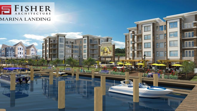 A rendering shows the Salisbury Marina project.