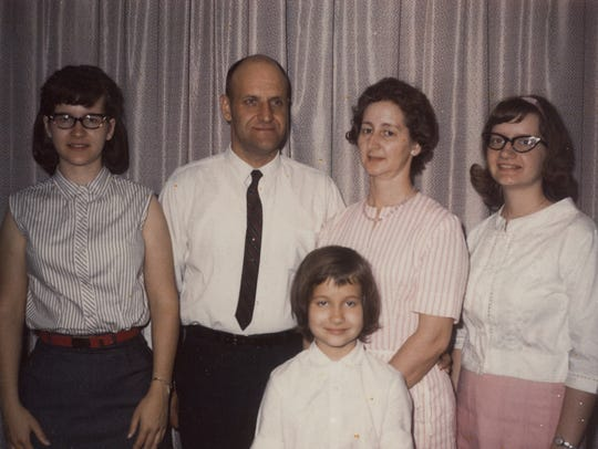 From left: Vicki Fenstermaker, Ed Shapley, Nellie Vosburg Shapley, Judy Zurenda and Lori Mae Shapley (front).
