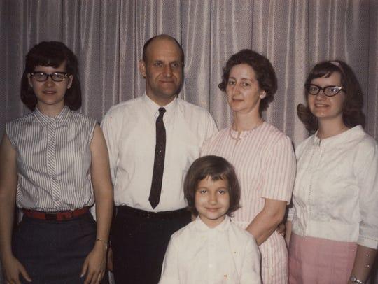 From left: Vicki Fenstermaker, Ed Shapley, Nellie Vosburg Shapley, Judy Zurenda and Lori Mae Shapley (front).