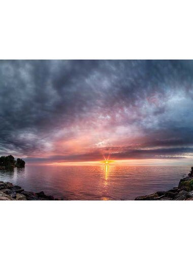 "Sunset, Lake Ontario: ""I made that photo during the"