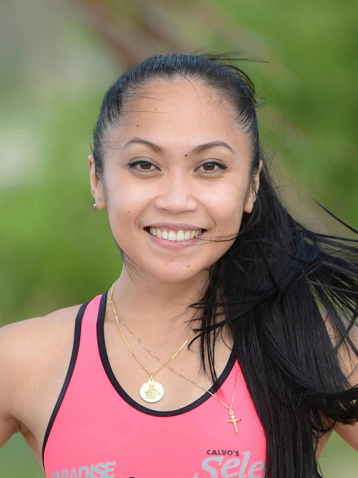 Rhea Macaluso of Chalan Pago prepares for the upcoming Boston Marathon at Asan Beach Park on April 7. She first qualified for the race in 2013, but couldn't run it because she became pregnant.