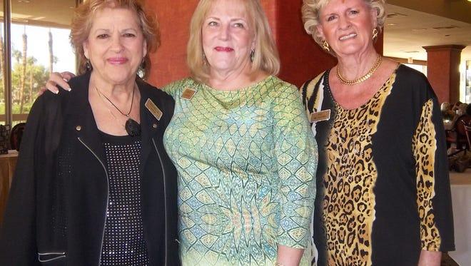 Co-chair Rochelle Koch, President Brenda Johnson, and Co-chair Faye McClung