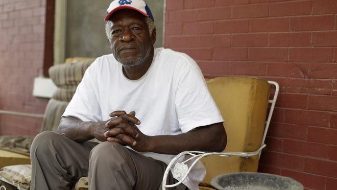 """Gerald Armstrong, seen here at his home in Kansas City, worked as an attendant and ball boy in the visitor's clubhouse for the old Kansas City Athletics. He is one of more than a dozen Black men who said they were sexually molested by former Red Sox clubhouse manager Donald """"Fitzy"""" Fitzpatrick when they were youths."""
