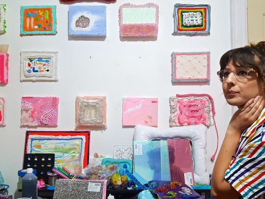 """Heavenly Dogs member Heidi Barlow is opening """"Heavy,"""" a solo art exhibit, at KO Gallery on Friday night."""