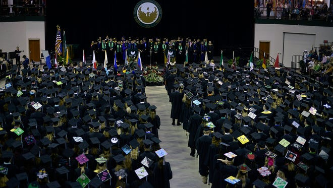 Scenes from the UW-Green Bay Commencement at the Kress Events Center in Green Bay on Saturday, May 16, 2015.