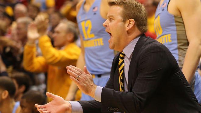 Head coach Steve Wojciechowski made his first NCAA Tournament appearance with Marquette last season.