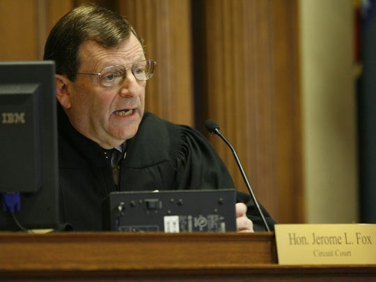Judge Jerome Fox addresses the courtroom prior to Brendan Dassey testifying on April 23, 2007 at the Manitowoc County Courthouse in Manitowoc.
