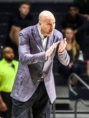 Mississippi coach Andy Kennedy reacts during the NCAA