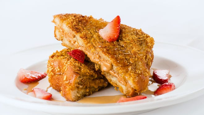 Courtneys Crunchy Peanut Butter French Toast is one of the breakfast items you might see on the Hoaglin's menu at the new YMCA in downtown Indy.