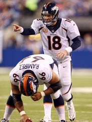 Peyton Manning's adjustments at the line of scrimmage
