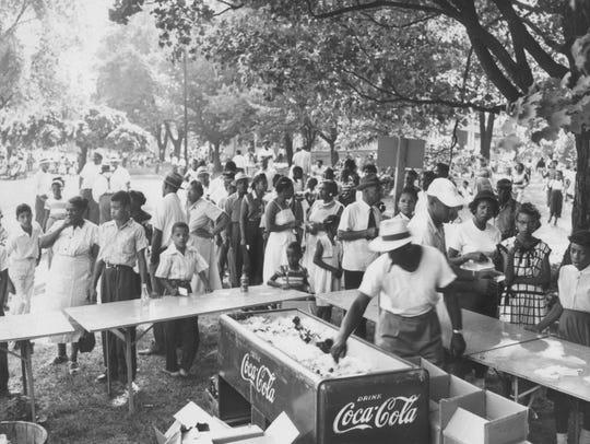 Company picnics, church picnics, and family reunions