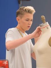 """Project Runway Junior"" contestant Matt Sarafa in the December 10 episode on Lifetime."