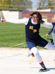 Greencastle-Antrim's Campbell Parker broke the Tim Cook meet record last season in the shot put and also captured gold in the discus.