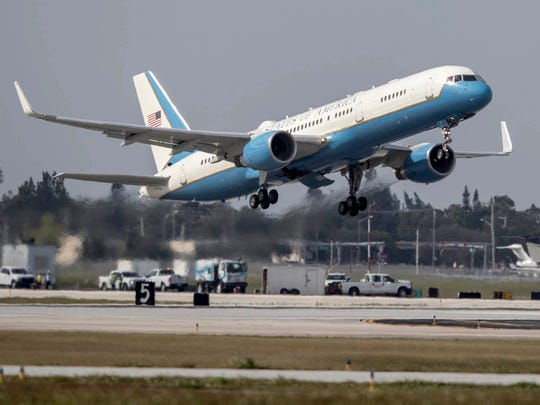 Executive One Foxtrot takes off from Palm Beach International