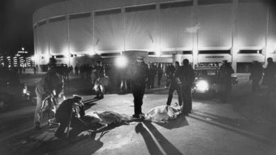 Eleven people died outside Riverfront Coliseum (now U.S. Bank Arena) before The Who concert on Dec. 3, 1979.