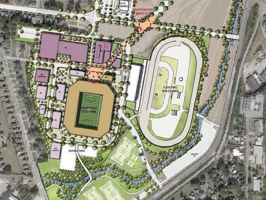 Nashville, Tennessee Major League Soccer stadium site plan
