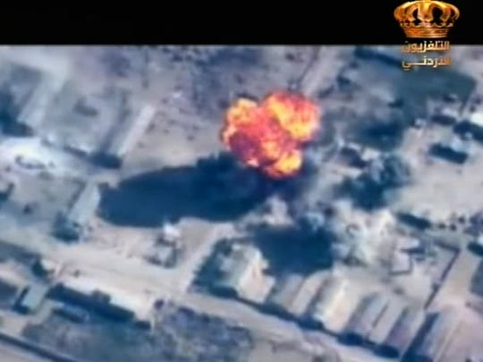 An image grab taken from the Jordanian televison on