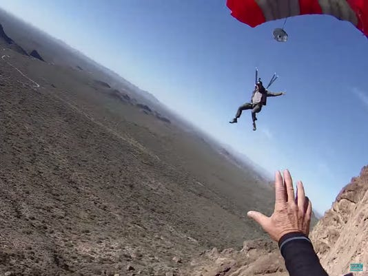 BASE jumping collision near Superstition Mountains