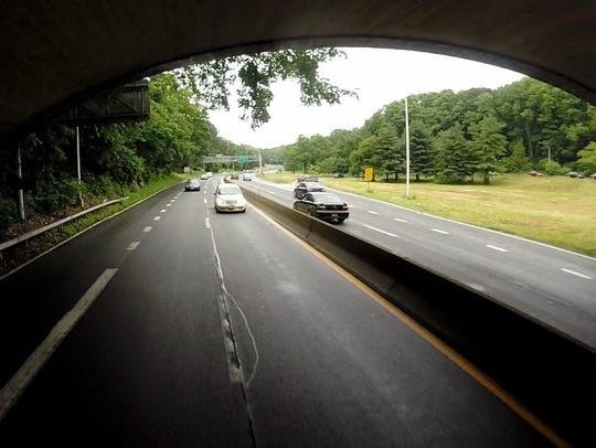 The Saw Mill River Parkway, seen in this file photo running through Yonkers.